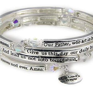 4030561 The Lord's Prayer Christian Coil Wrap Bracelet Jesus Religious Christ