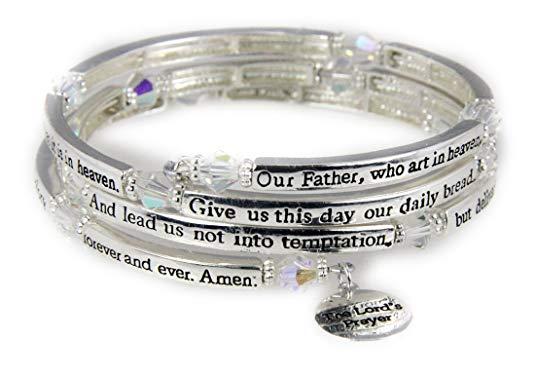 4030561 The Lord's Prayer Christian Coil Wrap Bracelet Jesus Religious Christ