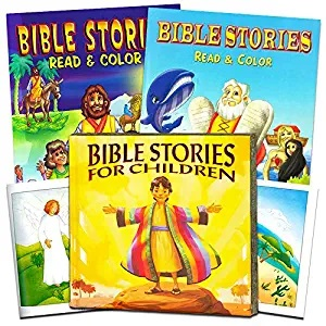 Bible Story Book Super Set for Kids Toddlers -- Deluxe Illustrated First Bible, Bible Coloring Book (Christian Gifts for Kids) (Classic Edition)