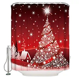 CHARMHOME Custom Home Decor Christmas Decoration Background Fabric Modern Shower Curtain European Style Bathroom Waterproof 72x72