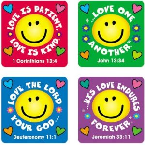 Carson Dellosa Christian Love Verses Stickers (0655)