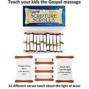 Egglo Scripture Scrolls (12) - Fun Religious Christian Easter Egg Filler Toys for Your Kid's Basket