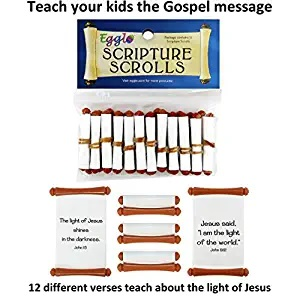 Egglo Scripture Scrolls (12) - Fun Religious/ Christian Easter Egg Filler Toys for Your Kid's Basket by Egglo Entertainment Llc