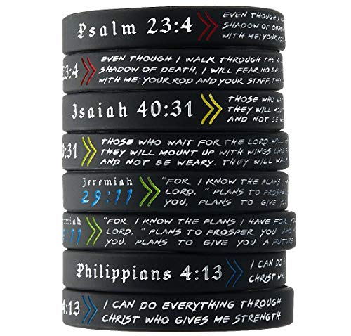 Ezekiel Gift Co. (12-Pack) Popular Bible Verses Bracelet Mix - Wholesale Christian Jewelry Products in Bulk Lot