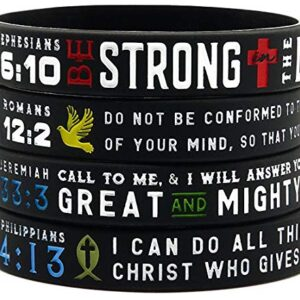 Ezekiel Gift Co. Power of Faith Bible Verse Wristbands - Christian Religious Jewelry Gifts
