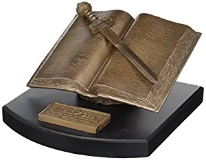 Lighthouse Christian Products Word of God Sword Bronzelike Finish 8.25 x 4 Hand-Cast Resin Mounted Sculpture