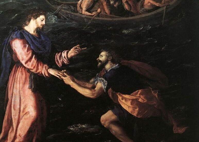 Peter Walking Walking In Water, Prayer During Hard TImes