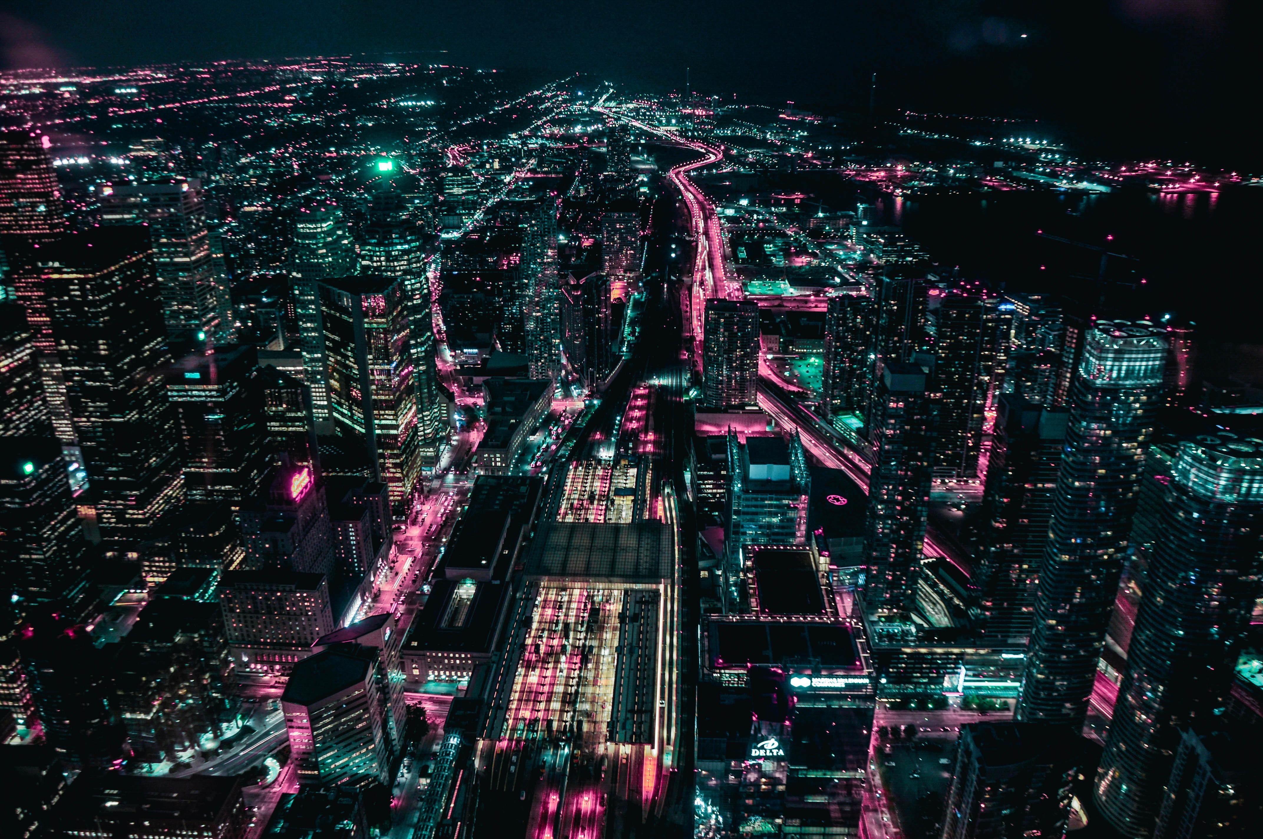 City ar night