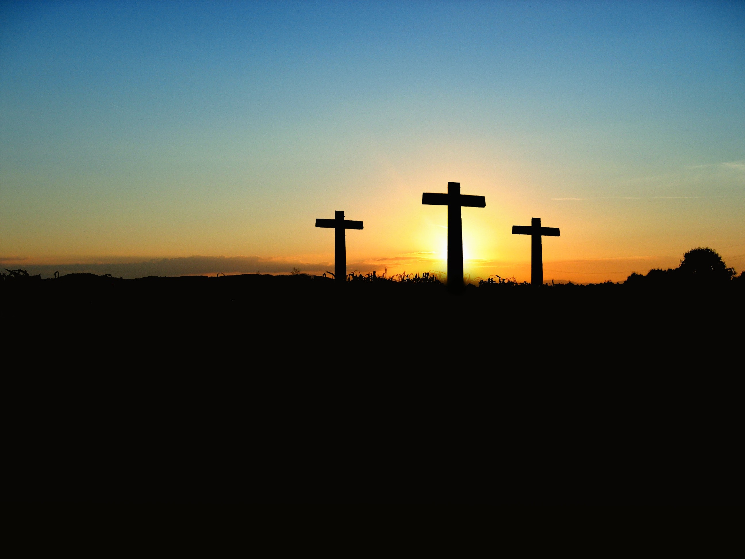 Three Cross Silhoutte
