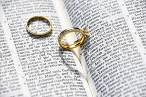 Rings on a Bible, Prayer for marriage