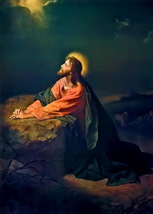 Jesus Christ, Garden of Gethsemane, Praying
