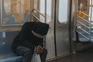 prayers for strength - man on train