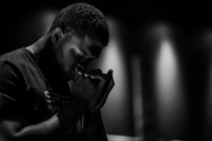 prayers for strength - man praying