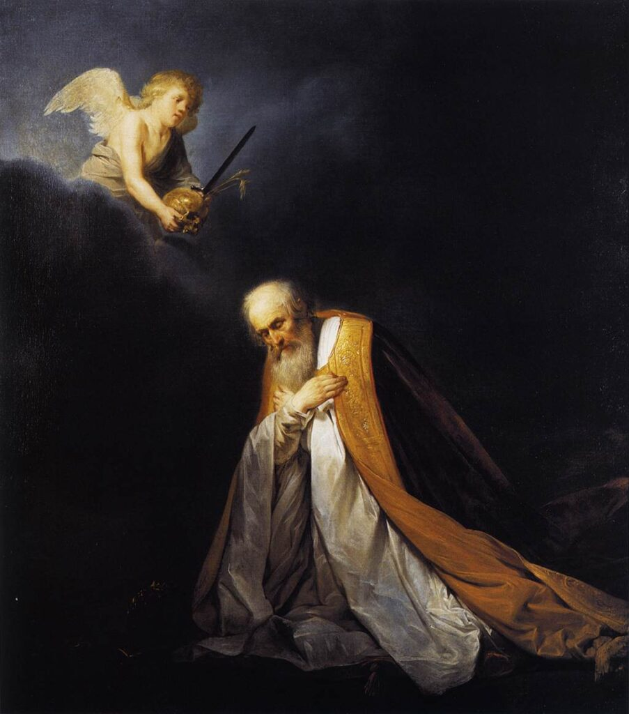 King David, Praying