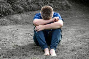 Sad boy, Boy who needs comforting