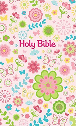 Holy Bible, Flowery Bible Cover, Childrens Bible