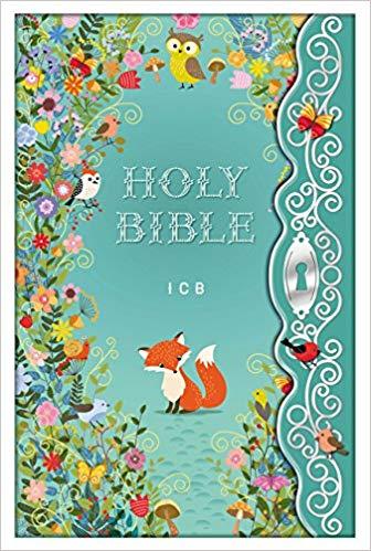 Childrens Bible, Garden cover, green Bible