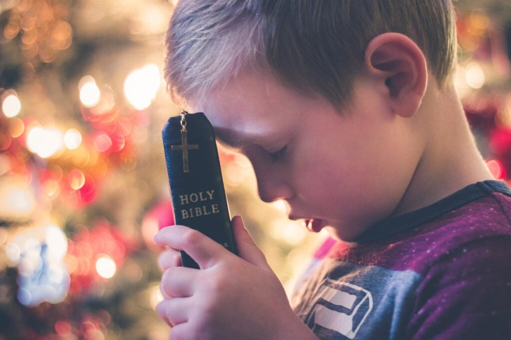Child Praying, Bible, Faith, Cross