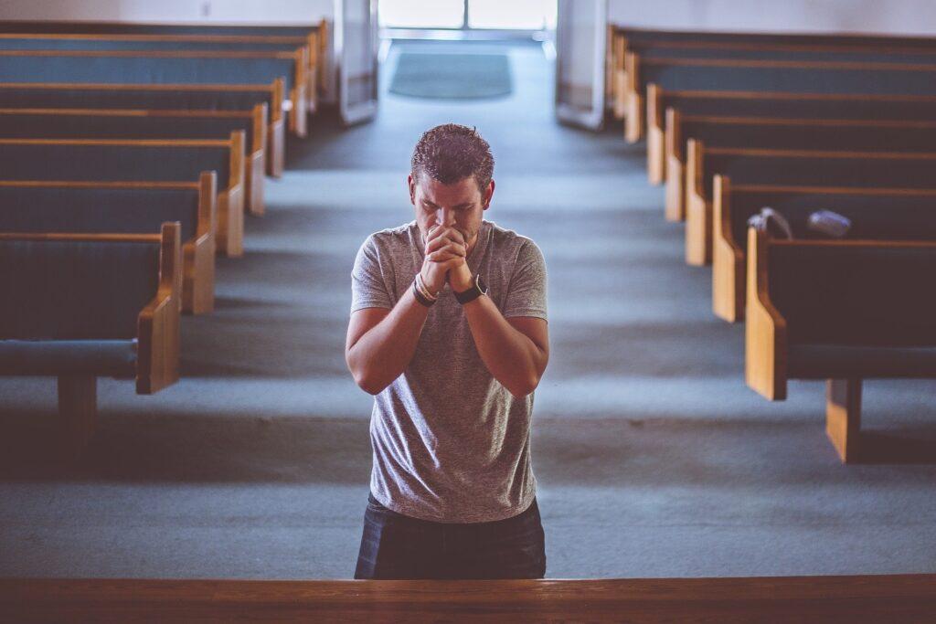 Church, Praying, Man Praying, Trusting God