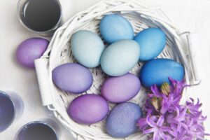 Easter colors - purple Easter eggs