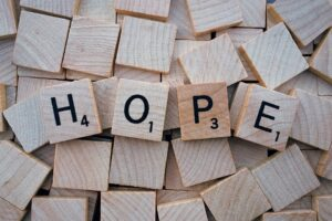 Bible verses about hope - letters H,O,P,E