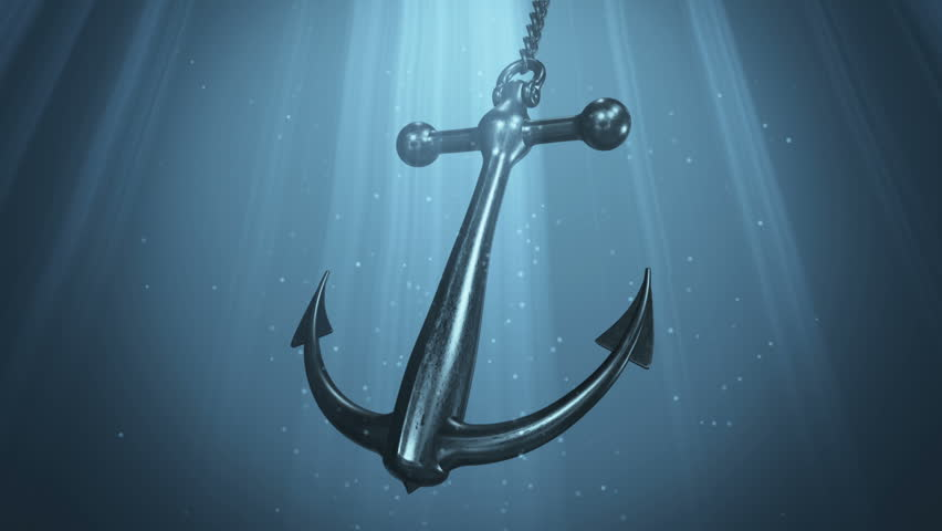 Bible verses about hope - anchor under wateer