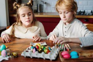 Easter card messages - kids on easter