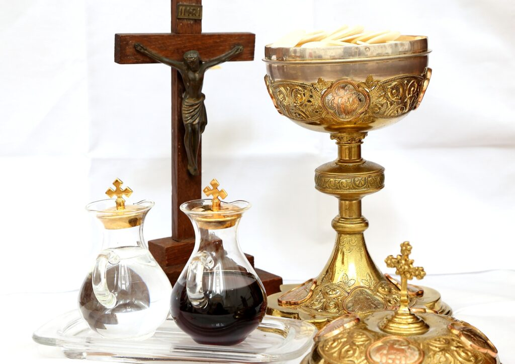 Cross, Wine and Bread, Eucharist, Last Supper, Maundy Thursday, Communion