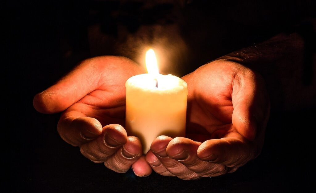 Praying, Hands, Candle