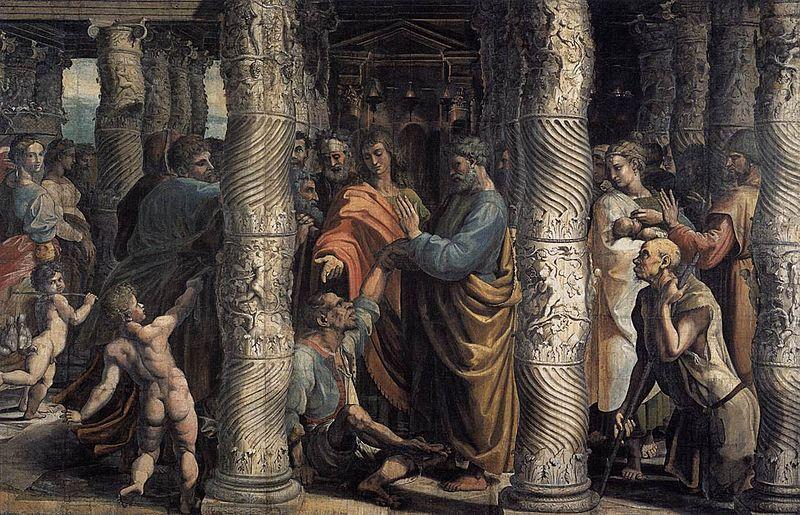 Peter, Lame Man, Praying, Healing