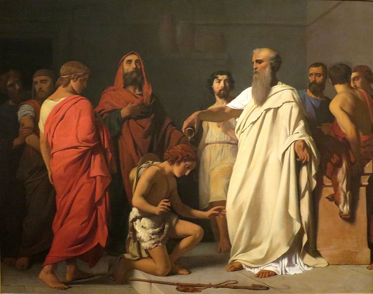 Anointing of Oil, Praying