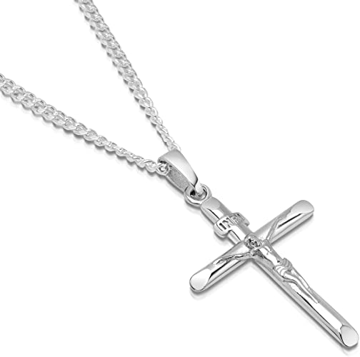 Silver Crucifix Necklace, Men, Jewelry