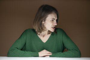 an enraged woman