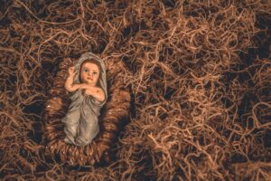 figurine of baby Jesus