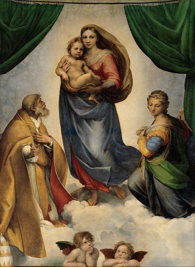 The Sistine Madonna, Raphael, Christian Art, Renaissance