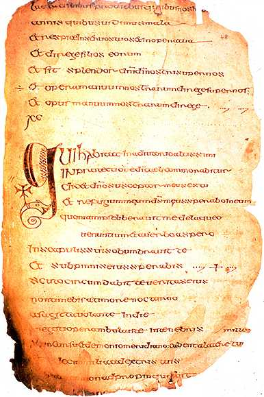 Illuminated Manuscript, Cathach of St. Columba