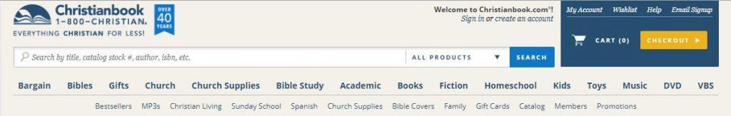 Christian Bookstore, Website, Christianbook