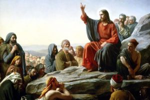 teachings of Jesus -painting of Jesus speaking to a crowd