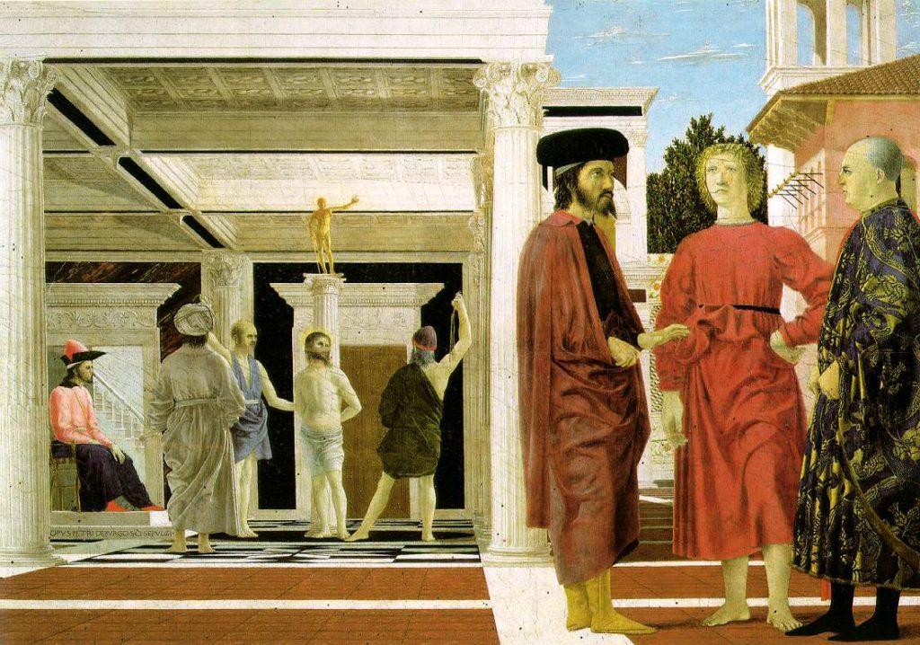 The Flagellation of Christ, Pierro Della Francesca, Renaissance, Christian Art