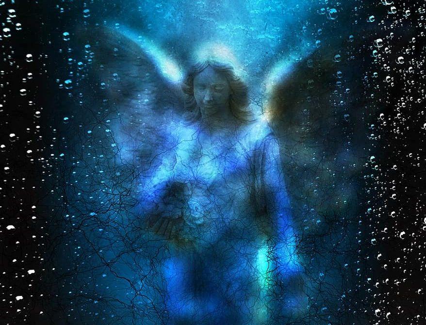 Angel spirit, blue angel