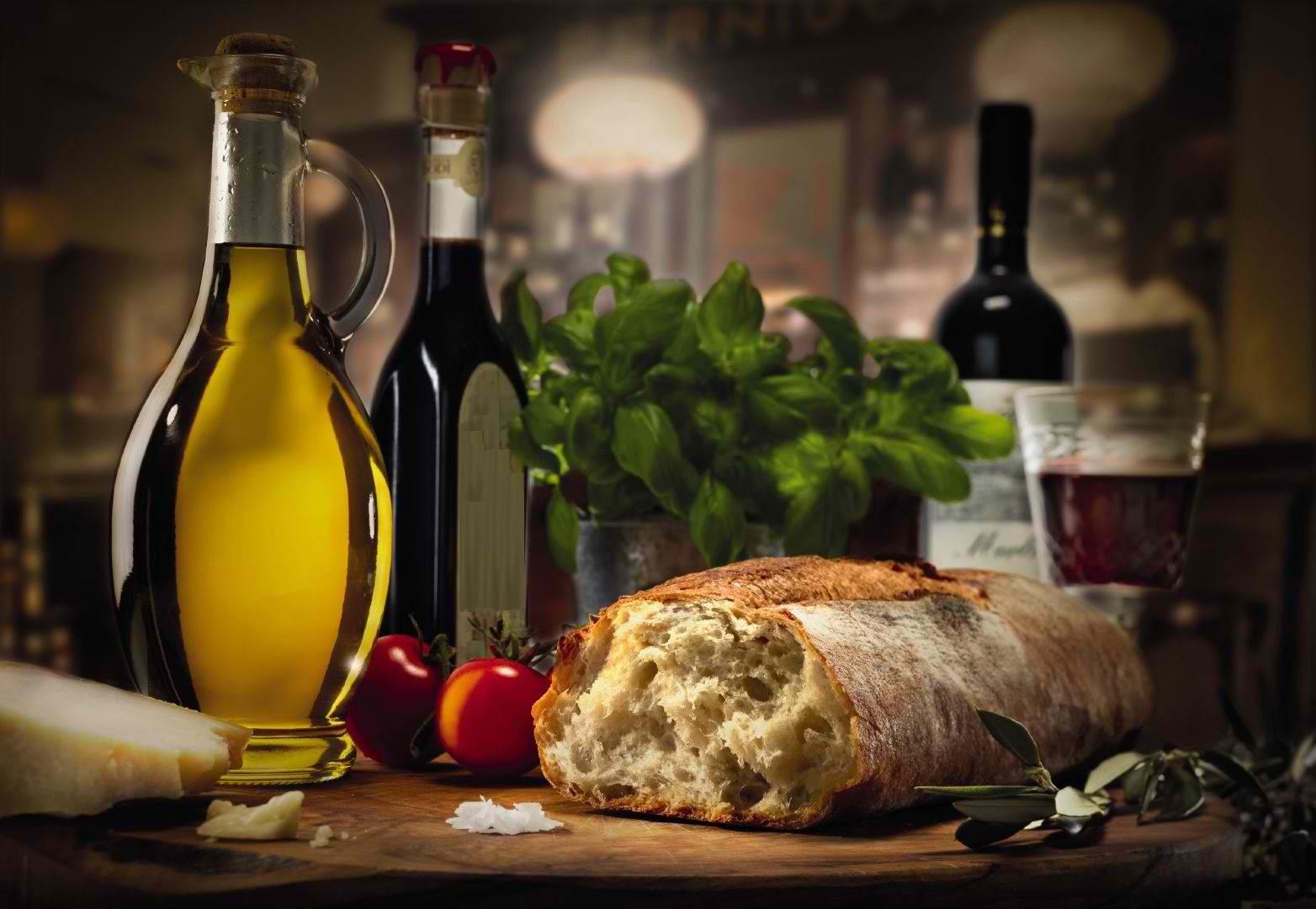 oil, wine, basic necessities