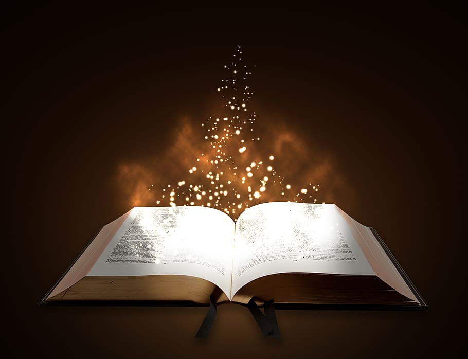 glowing Bible, Bible verses about the Holy Spirit