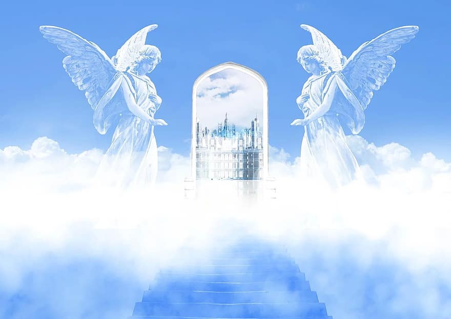 Angels guarding gate of heaven, Biblical angels