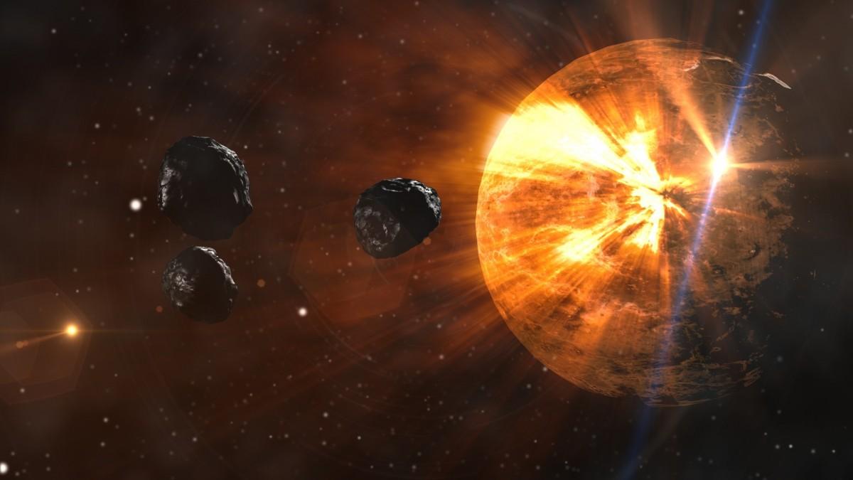 Sun, rocks, stars