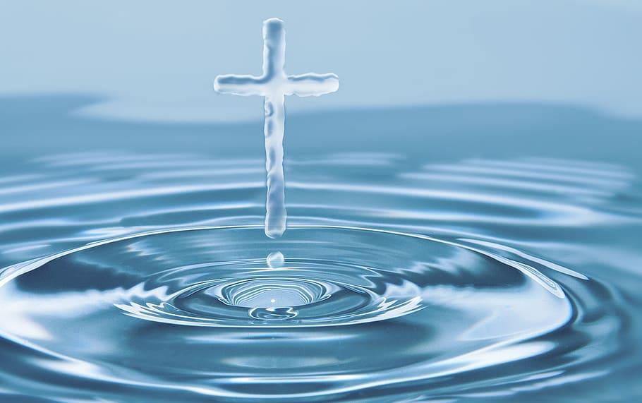 water, cross