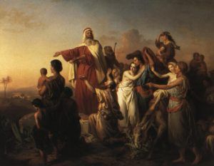Painting of Moses leading the Israelitess