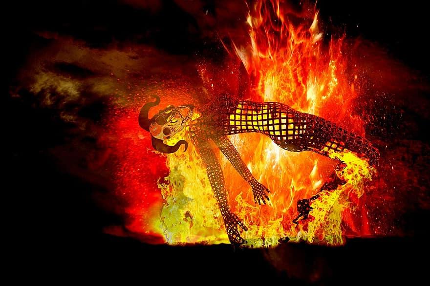 burning demon,Biblical demons