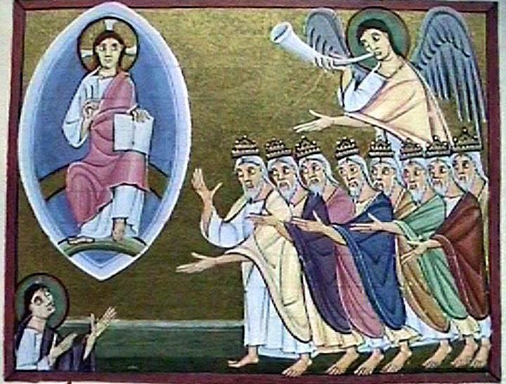 Book of Revelation, angels, throne of God