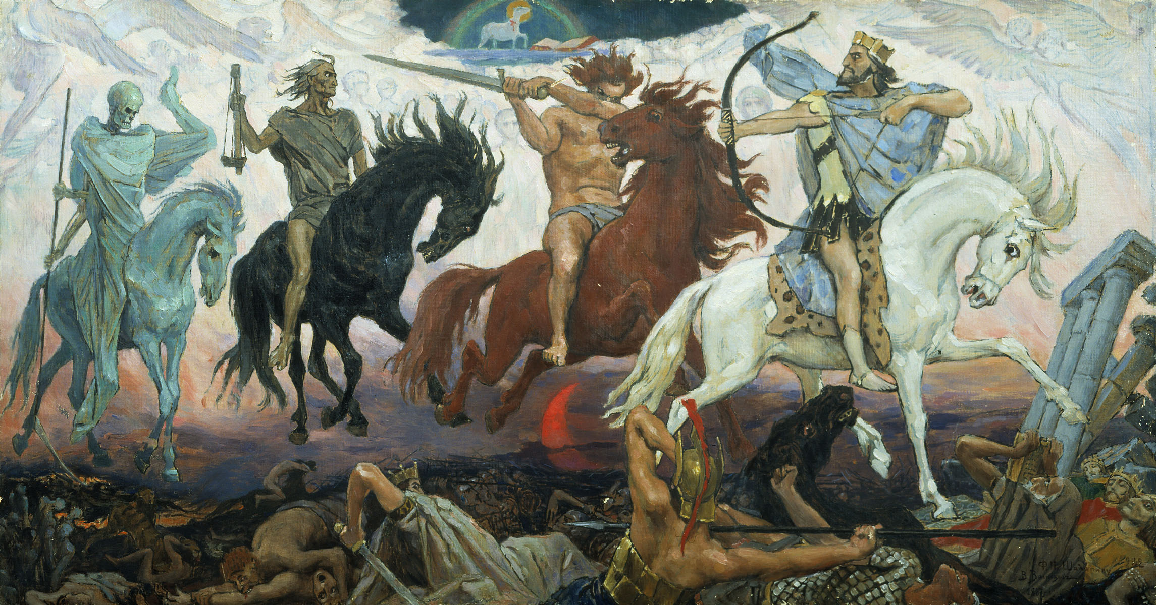 4 horses, signs of the end of times