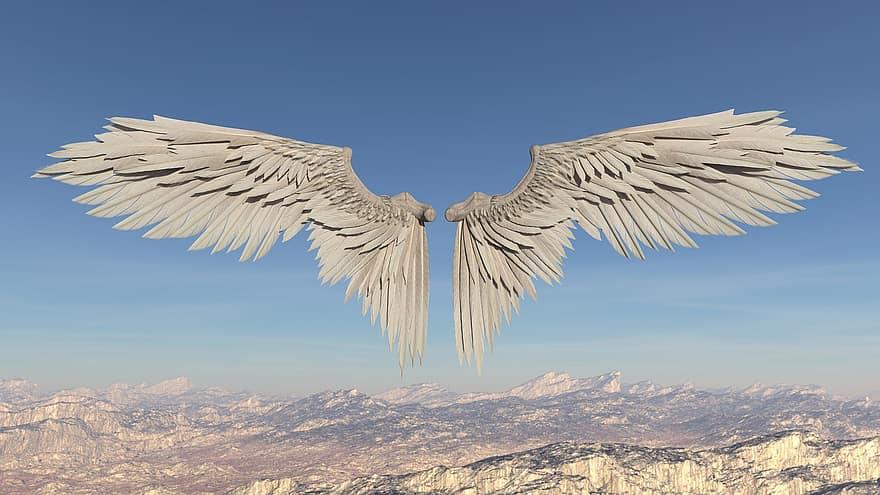 angel wings, Biblical angels